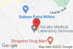 Map of 470 Bronte St S, Unit 110, Milton, Ontario - Prime Care After Hours Walk-In Clinic - Prime Care After Hours Walk-In Clinic