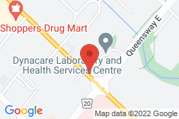 Map of 2325 Hurontario St, Suite 4B, Mississauga, Ontario - Queentario Medical Centre - Queentario Medical Centre