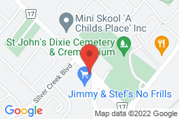 Map of 680 Silver Creek Blvd, Unit 8, Mississauga, Ontario - Health Plus Medical Clinic - Health Plus Medical Clinic