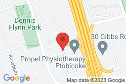 Map of 1 Eva Rd #100, Etobicoke, Ontario - Appletree Medical Group Etobicoke Eva Rd - Appletree Medical Group