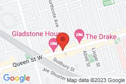 Map of 1175 Queen St W, Toronto, Ontario - Appletree Medical Group The Beach - Appletree Medical Group