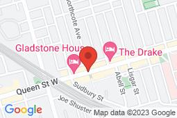 Map of 1175 Queen St W, Toronto, Ontario - Appletree Medical Group Queen St - Appletree Medical Group