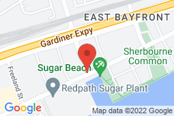 Map of 10 Lower Jarvis St, Toronto, Ontario - Queen's Quay Medical Centre - Queen's Quay Medical Centre