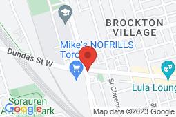 Map of 222 Lansdowne Avenue, Toronto, Ontario - Lansdowne Dundas Medical Clinic - Lansdowne Dundas Medical Clinic