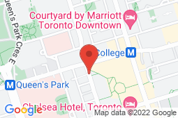 Map of 790 Bay St., Suite 108, Toronto, Ontario - Bay College Medical and Lockwood Diagnostic - Bay College Medical and Lockwood Diagnostic
