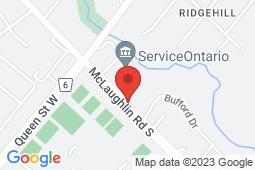 Map of 8975 McLaughlin Rd S, Brampton, Ontario - McQueen Clinic - McQueen Clinic
