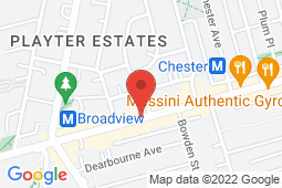 Map of 1100 Sheppard Ave. E., Toronto, Ontario - Children's After Hours Clinic Danforth - Children's After Hours Clinic