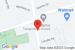 Map of 2355 Keele St, Unit D2, Toronto, Ontario - North Park Medical Centre - North Park Medical Centre