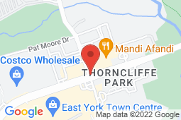 Map of 62 Overlea Boulevard,Unit 4A, Toronto, Ontario - Thornlea Medical Centre and Walk-In Clinic - Thornlea Medical Centre and Walk-In Clinic