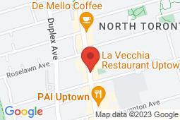 Map of 2401 Yonge St, Suite 209, Toronto, Ontario - Fairlawn Medical Centre - Fairlawn Medical Centre