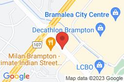 Map of 14 Lisa street, Brampton, Ontario - Brampark Walk-in Clinics Dixie And Queen - Brampark Walk-in Clinics