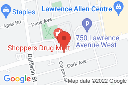 Map of 770 Lawrence Ave W, Toronto, Ontario - Trillium Doctor's Office - Trillium Doctor's Office