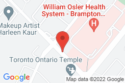 Map of 10095 Bramalea Road Unit 107, Brampton, Ontario - Brampark Walk-in Clinics Bramalea And Bovaird - Brampark Walk-in Clinics