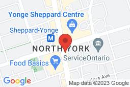 Map of 4789 Yonge Street, Toronto, Ontario - Hullmark Medical Clinic - Hullmark Medical Clinic