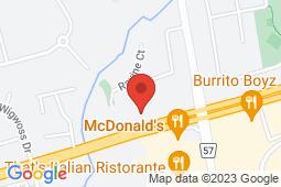 Map of 7700 Pine Valley Dr, Woodbridge, Ontario - Woodbridge Family Physicians - Woodbridge Family Physicians