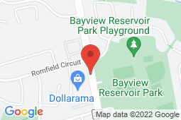 Map of 8200 Bayview Ave, Thornhill, Ontario - Matlis Medical, Urgent Walk in Clinic, Sports Medicine - Matlis Medical, Urgent Walk in Clinic, Sports Medicine