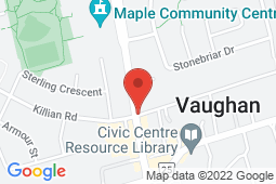 Map of 10083 Keele Street Suite #100, Maple, Ontario - All In One Medical Clinic - All In One Medical Clinic