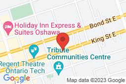 Map of 117 King St E, Oshawa, Ontario - Oshawa Clinic - Oshawa Clinic