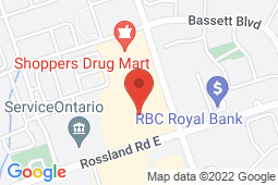 Map of 3050 Garden St, Suite 104, Whitby, Ontario - Family Care Medical Centre Virtual - Family Care Medical Centre - Whitby