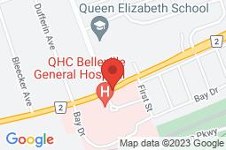 Map of 274 Dundas St, Suite 105, Belleville, Ontario - Bayview Medical Clinic - Bayview Medical Clinic