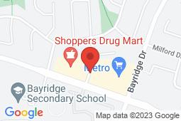 Map of 775 Strand Blvd, Kingston, Ontario - Bayridge After Hours Medical Clinic - Bayridge After Hours Medical Clinic