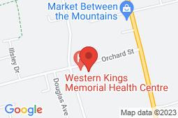 Map of 121 Orchard St, Berwick, Nova Scotia - Western Kings Memorial Health Centre - Western Kings Memorial Health Centre
