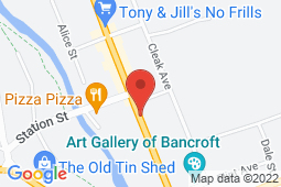 Map of 90 Hastings St North, Bancroft, Ontario - Good Doctors Medical Clinics Bancroft - Good Doctors Medical Clinics
