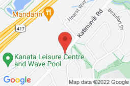 Map of 150 Katimavik Rd, Ottawa, Ontario - Appletree Medical Clinic Katimavik Rd - Appletree Medical Group
