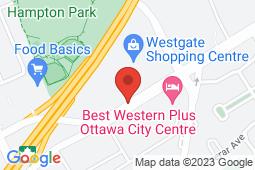 Map of 1309 Carling Ave, Ottawa, Ontario - Appletree Medical Clinic Carling Ave - Appletree Medical Group