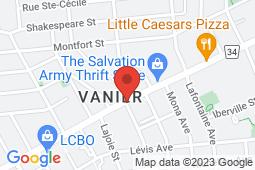 Map of 292 Montreal Rd, Vanier, Ontario - Vanier Medical Centre - Vanier Medical Centre