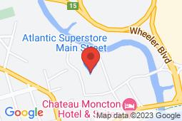 Map of 165 Main Street, Moncton, New Brunswick - Main Street Family Medical Clinic - Primacy