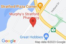 Map of 13 Stratford Road, Stratford, Prince Edward Island - Stratford Walk-in Clinic - Murphy's Pharmacies