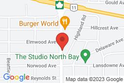 Map of 1221 Algonquin Avenue, Unit 105, North Bay, Ontario - Good Doctors Medical Clinics North Bay - Good Doctors Medical Clinics