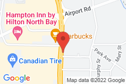 Map of 1950 Algonquin Ave, Suite 306, North Bay, Ontario - Head to Toe Clinic - Head to Toe Clinic