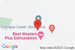 Map of 60 Bateman Avenue, Edmundston, New Brunswick - Clinique Sans Rendez-Vous - David Leach Medical Centre