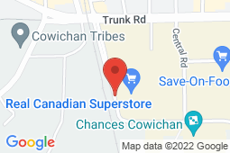 Map of 291 Cowichan Way, Duncan, British Columbia - Cowichan Way Clinic - Cowichan Way Clinic