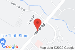 Map of 5796 Glover Road, Langley, British Columbia - Glover Medical Centre - Glover Medical Centre