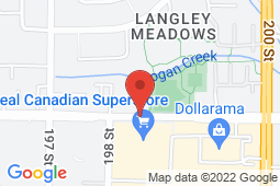 Map of 19851 Willowbrook Drive, Langley, British Columbia - Valley Centre Medical Clinic Ltd - Valley Centre Medical Clinic Ltd