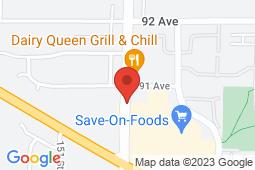 Map of 9014 152 Street, Surrey, British Columbia - Care Place Medical Centre 152nd St - CarePlace Medical Centre