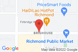 Map of 150-7997 Westminster Highway, Richmond, British Columbia - Richmond Central Medical Clinic - Richmond Central Medical Clinic