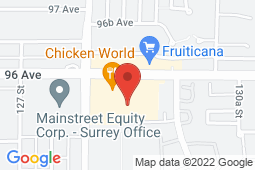 Map of 12860 – 96th Avenue, Surrey, British Columbia - Cedar Hills Medical Clinic - Denning Health Group