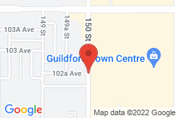 Map of 1000 Guildford Town Centre, Surrey, British Columbia - Viva Care Guildford Town Centre - Viva Care