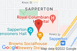 Map of 301 East Columbia Street, New Westminster, British Columbia - Columbia Medical Clinic - Columbia Medical Clinic
