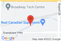 Map of 3185 Grandview Hwy, Vancouver, British Columbia - Pacific Medical Clinic Grandview - Pacific Medical Clinic