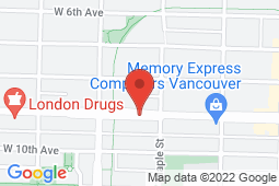 Map of 2025 Broadway Street W, Vancouver, British Columbia - Maple Walk-In Medical Clinic - Wellpoint Health Kitsilano