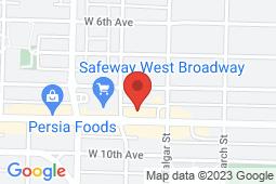 Map of 2685 West Broadway, Vancouver, British Columbia - Kitsilano Medical Clinic - Khatsahlano Medical Clinics