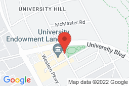 Map of 2155 Allison Road, Vancouver, British Columbia - University Village Medical and Dental Clinic - University Village Medical and Dental Clinic