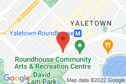 Map of 1296 Pacific Boulevard, Vancouver, British Columbia - Yaletown Medical Clinic - Yaletown Medical