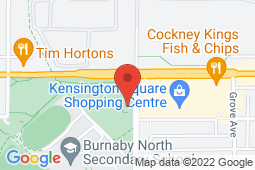 Map of 6548 Hastings St, Burnaby, British Columbia - Kensington Walk-In Clinic and Paediatric Medical Clinic - Kensington Walk-In Clinic and Paediatric Medical Clinic