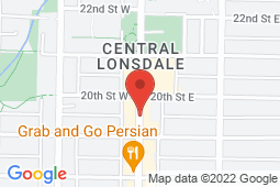 Map of 1616 Lonsdale Ave, North Vancouver, British Columbia - Lonsdale and 17th Medical Clinic - Lonsdale Medical Clinics